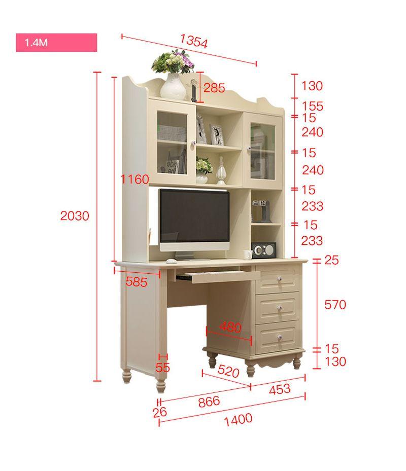 Kích thước Bộ bàn ghế cho bé đẹp màu trắng BH202 2