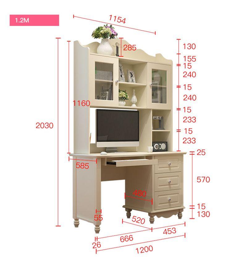Kích thước Bộ bàn ghế cho bé đẹp màu trắng BH202