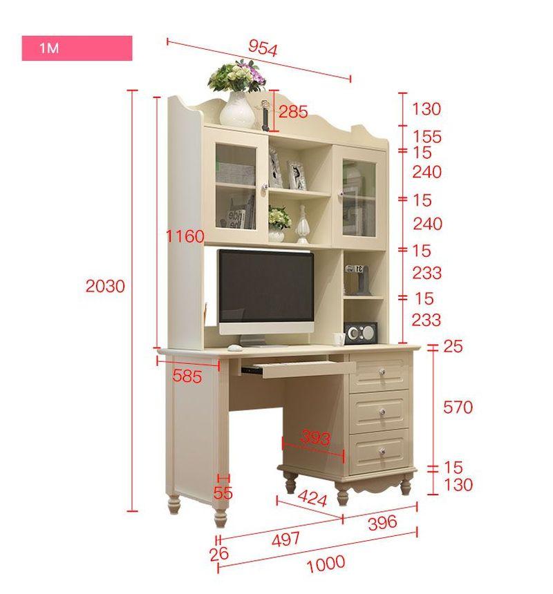 Kích thước Bộ bàn ghế cho bé đẹp màu trắng BH202 6