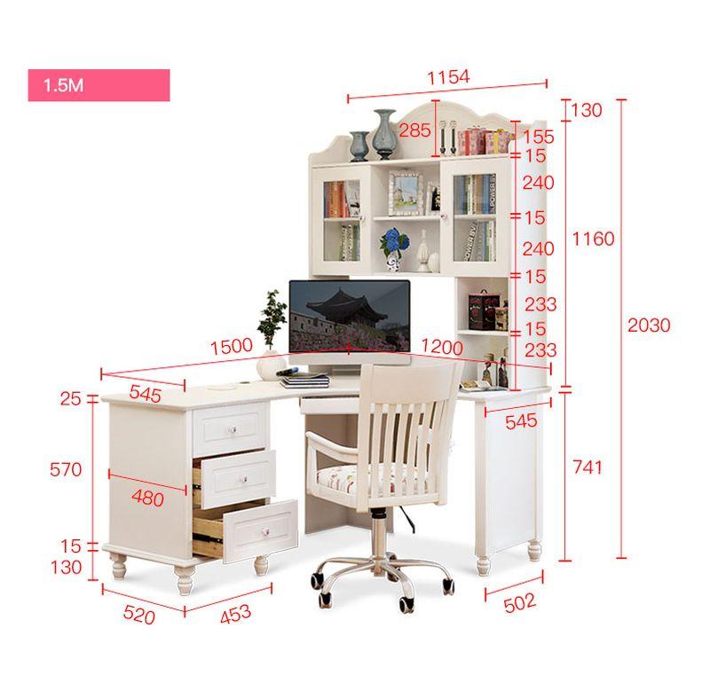Kích thước Bộ bàn ghế cho bé đẹp màu trắng BH202 5