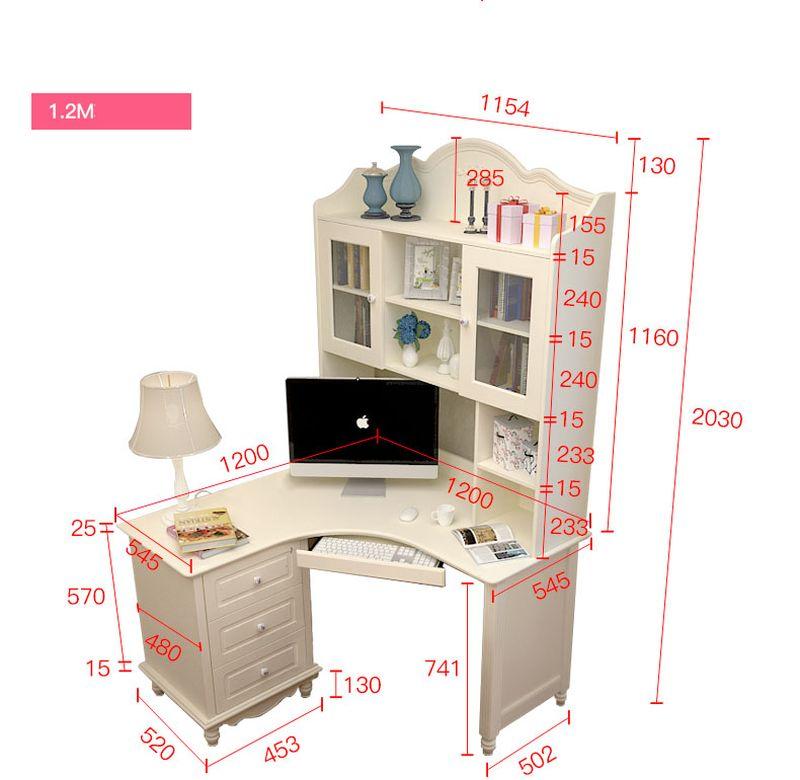 Kích thước Bộ bàn ghế cho bé đẹp màu trắng BH202 4