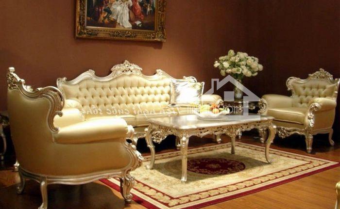Mẫu bàn ghế sofa đẹp phong cách tân cổ điển 2