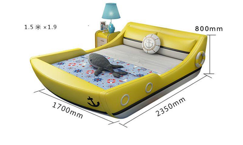 Kích cỡ 1m5 x 1m9 Giường trẻ em kiểu chiếc thuyền GTE124