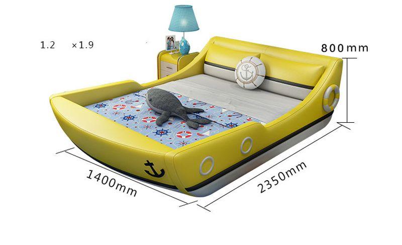 Kích cỡ 1m2 x 1m9 Giường trẻ em kiểu chiếc thuyền GTE124