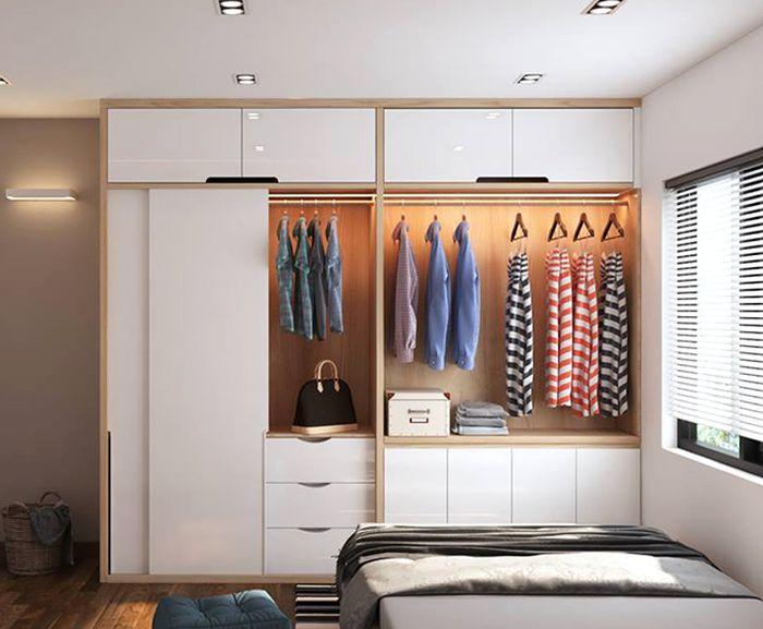 Tủ quần áo cho bé hiện đại làm bằng gỗ 3
