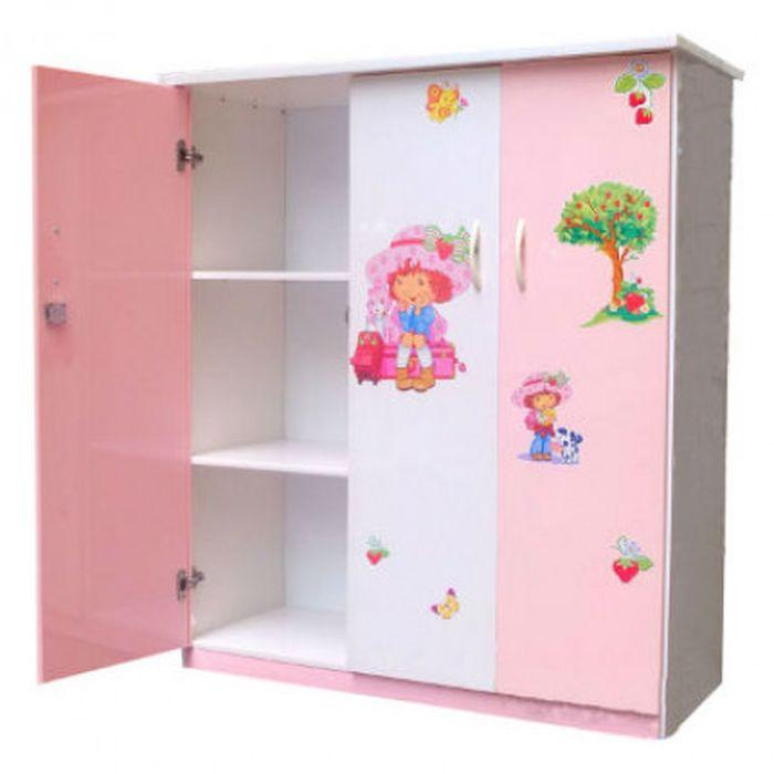 Tủ quần áo cho bé màu hồng dễ thương