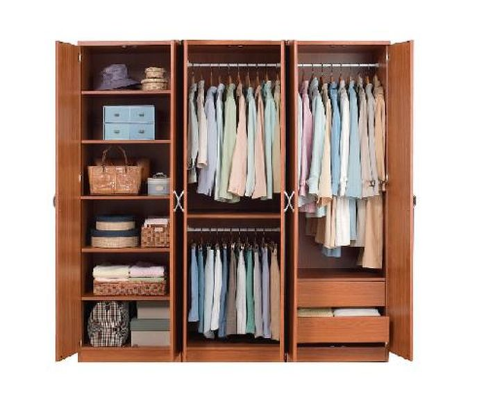 Tủ quần áo cho bé hiện đại làm bằng gỗ