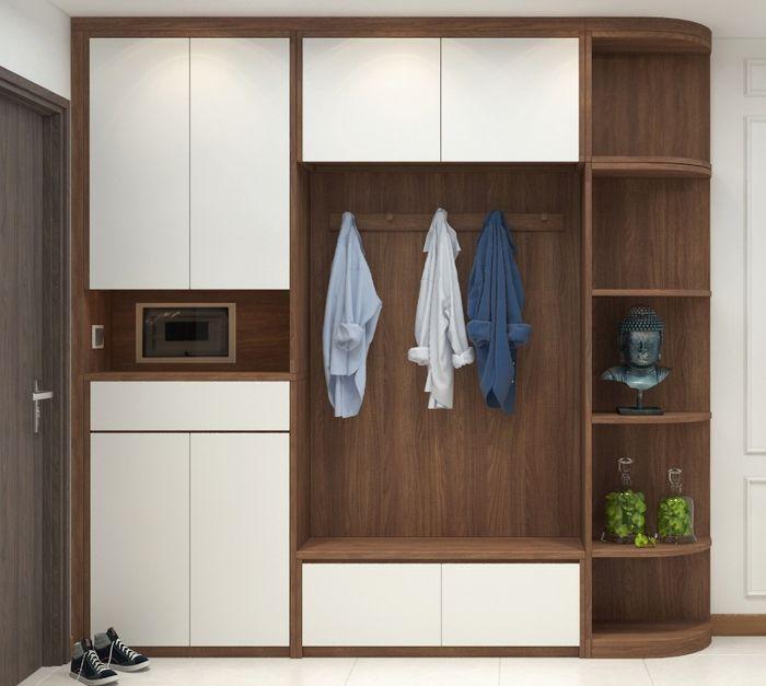 Tủ quần áo cho bé hiện đại làm bằng gỗ 2