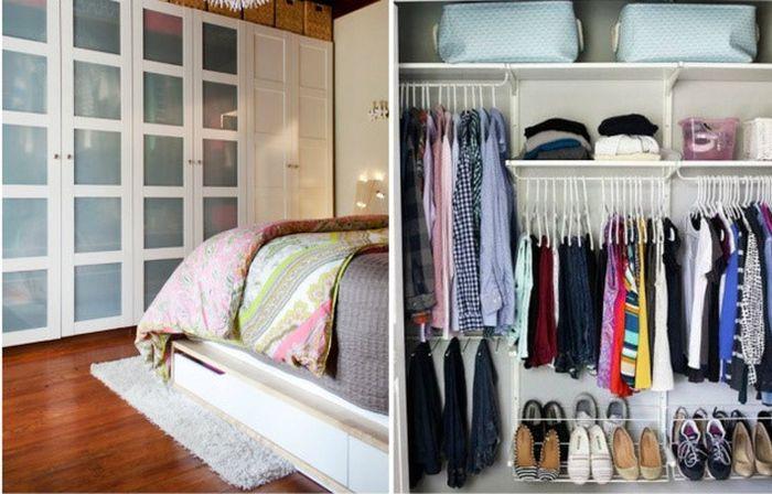 Tủ quần áo có nhiều ngăn kéo dành cho bé