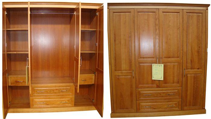 Tủ quần áo đẹp làm bằng gỗ sồi