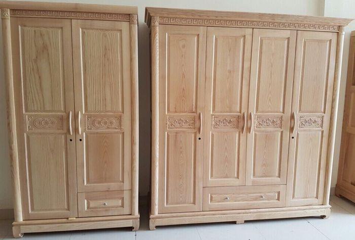 Tủ quần áo đẹp làm bằng gỗ sồi 3
