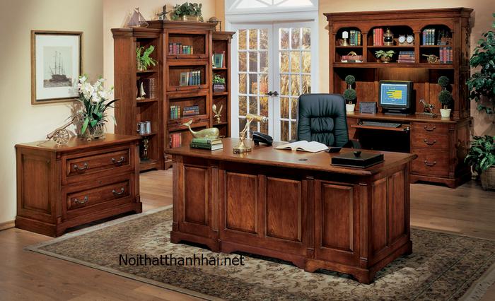 bàn làm việc giám đốc bằng gỗ đẹp