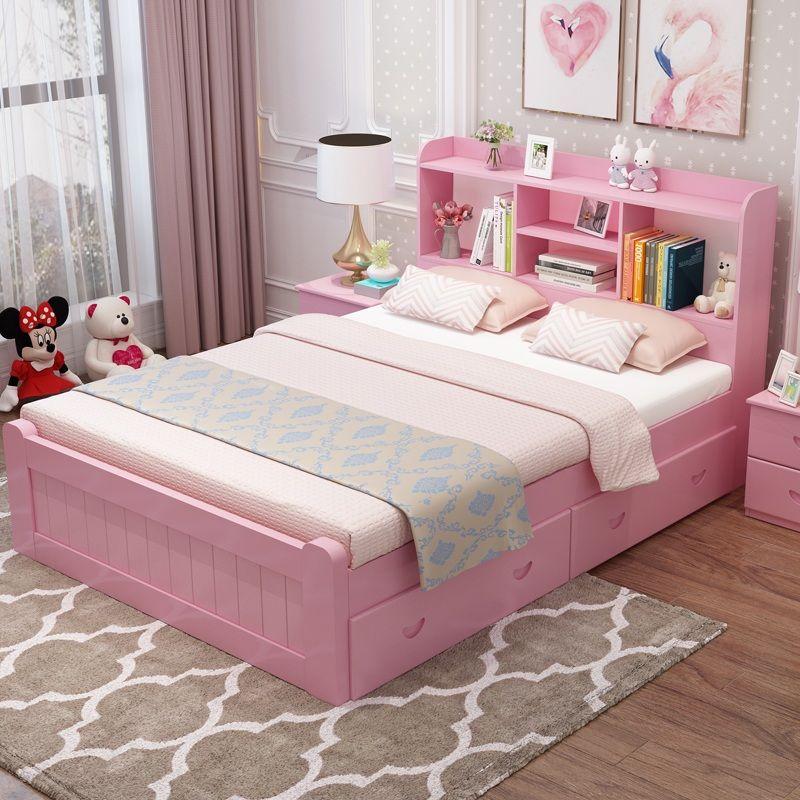 Giường cho bé phong cách Châu Âu tiện ích GTE127 màu hồng