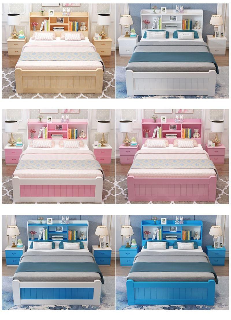 Các màu sắc mẫu Giường cho bé phong cách Châu Âu tiện ích GTE127 màu trắng