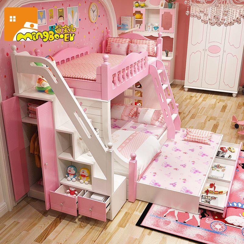 Giường tầng công chúa dành cho bé gái GTE131 3
