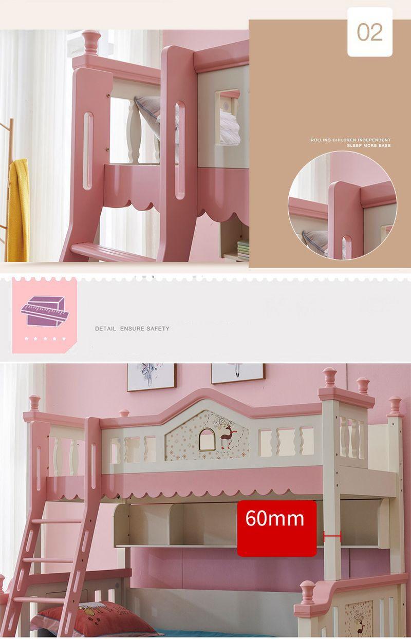 Giường tầng kiểu ngôi nhà đẹp GTE133 đa năng 4