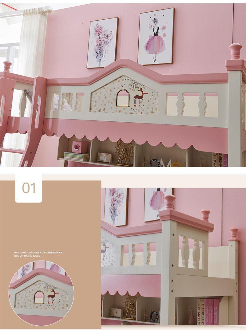 Giường tầng kiểu ngôi nhà đẹp GTE133 đa năng 3