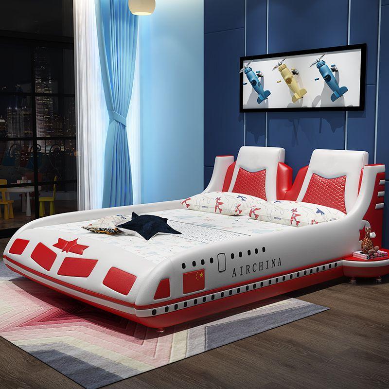 Mẫu giường trẻ em kiểu máy bay BOING GTE125 màu đỏ