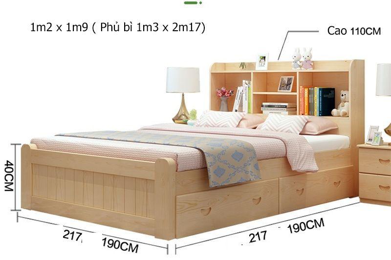 Kích thước giường trẻ em GTE127