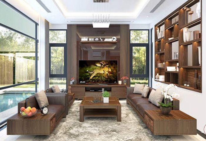 Sofa gỗ óc chó đẹp 4