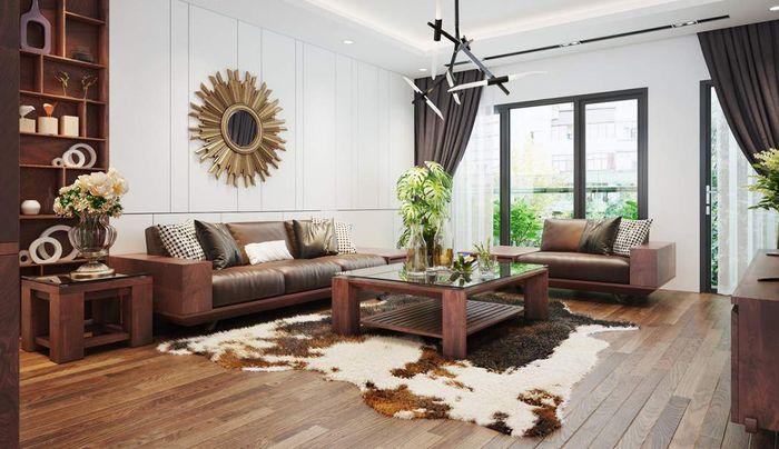 Sofa gỗ phòng khách làm từ gỗ óc chó