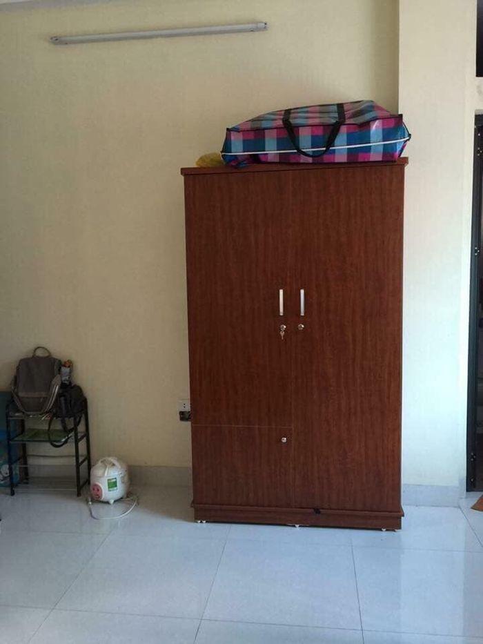 Mẫu tủ quần áo bằng gỗ giá rẻ 1 triệu, 2 triệu, 3 triệu dành cho sinh viên 2 cánh màu nâu