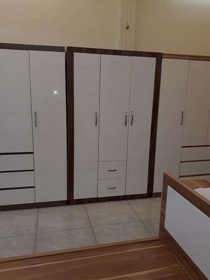 Mẫu tủ quần áo bằng gỗ giá rẻ 1 triệu, 2 triệu, 3 triệu dành cho sinh viên 3 cánh màu trắng