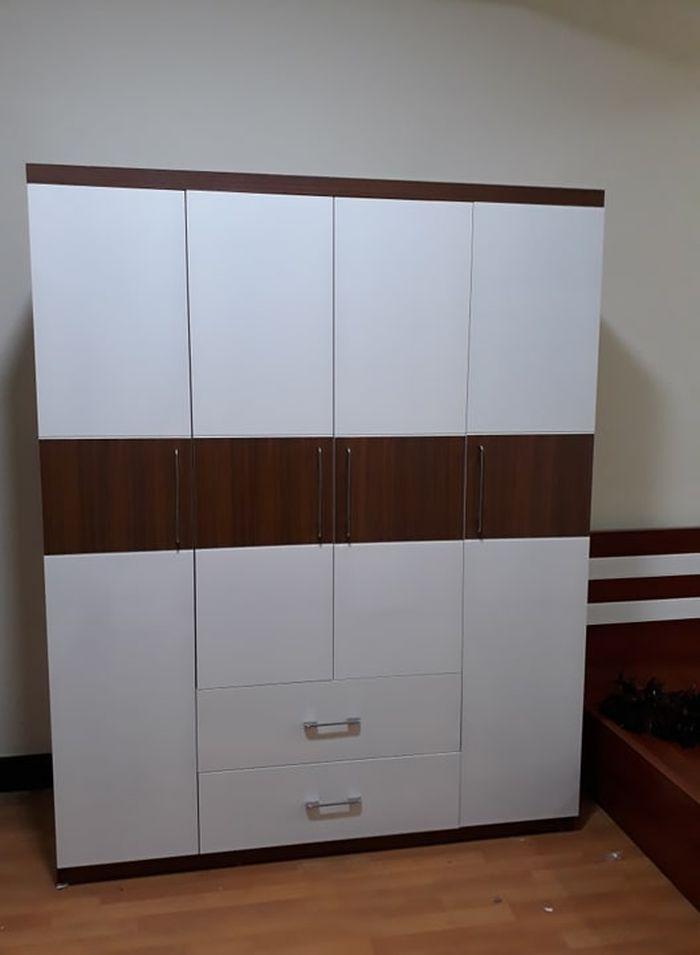 Mẫu tủ quần áo bằng gỗ giá rẻ 1 triệu, 2 triệu, 3 triệu dành cho sinh viên 4 cánh