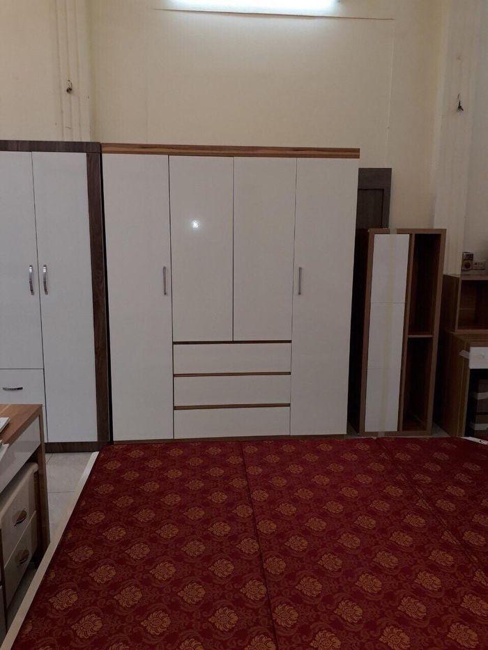 Mẫu tủ quần áo bằng gỗ giá rẻ 1 triệu, 2 triệu, 3 triệu dành cho sinh viên 4 cánh màu trắng