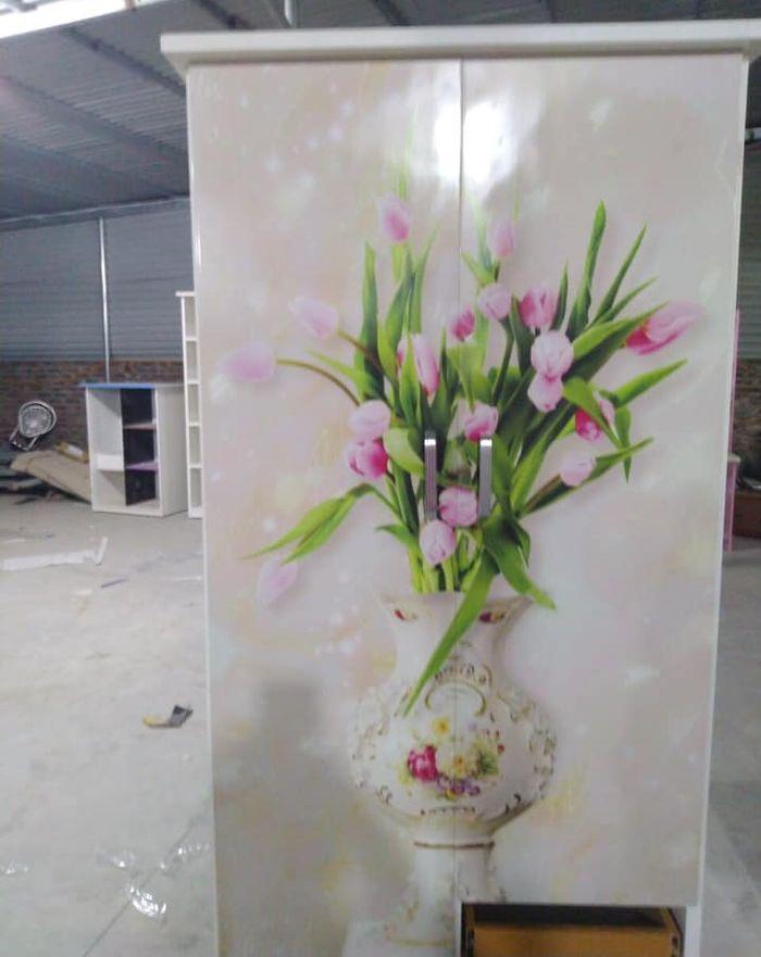 Tủ quần áo bằng nhựa đẹp giá rẻ  in hình  lọ hoa