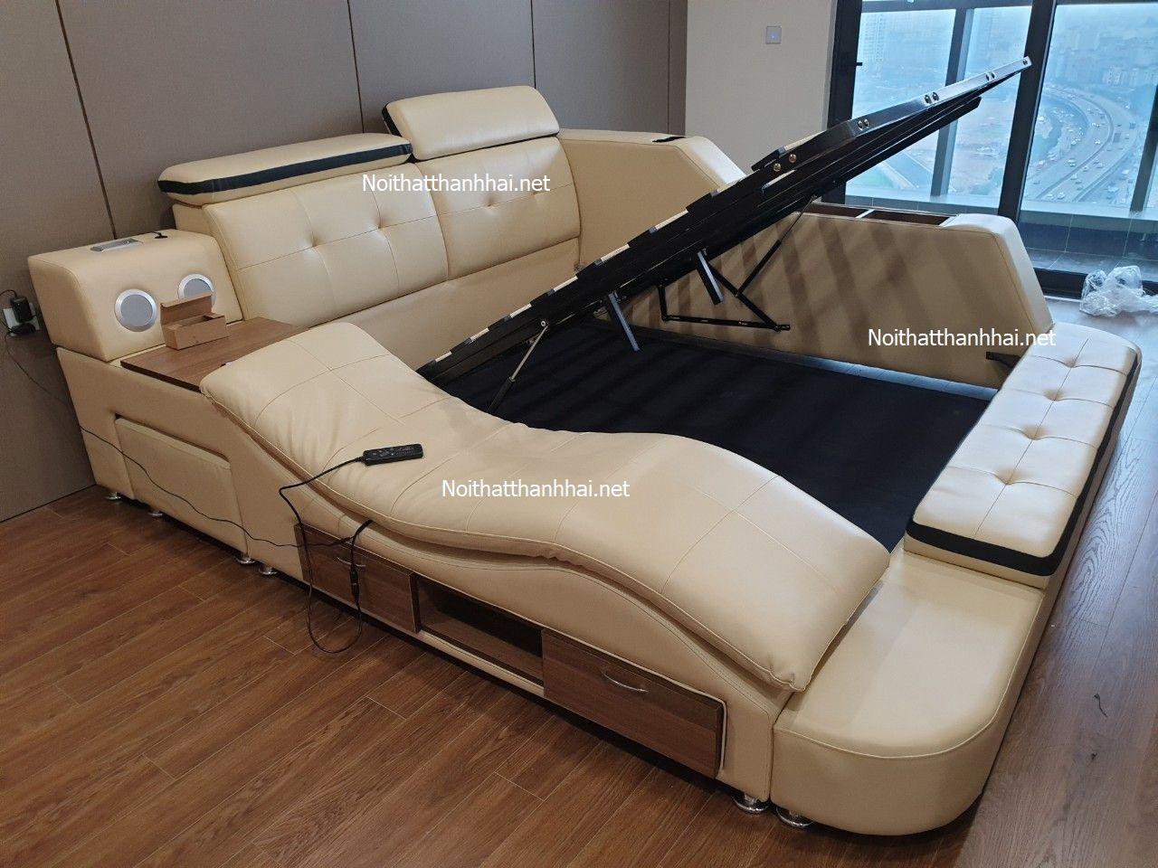 Ảnh thật giường có ghế massage thư giãn GN004
