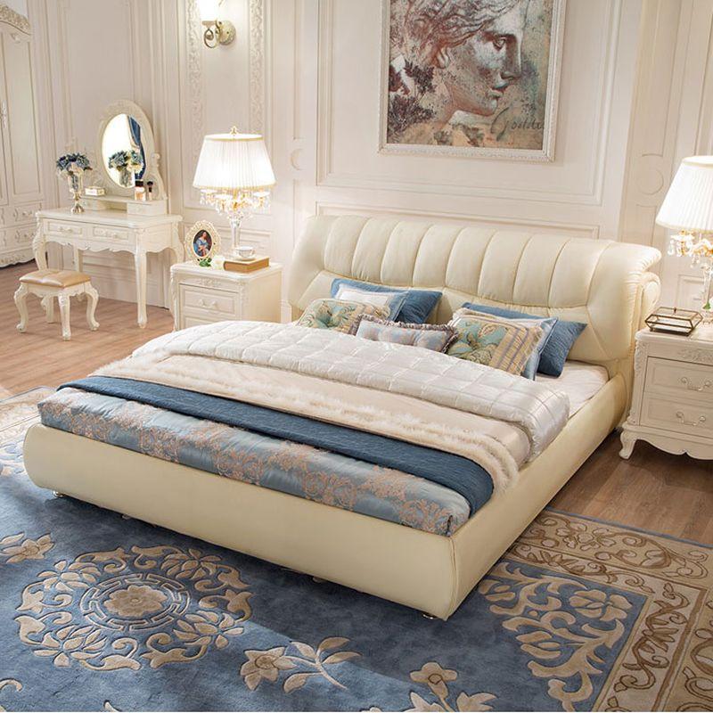 Giường ngủ bọc da hiện đại cao cấp sang trọng GN020