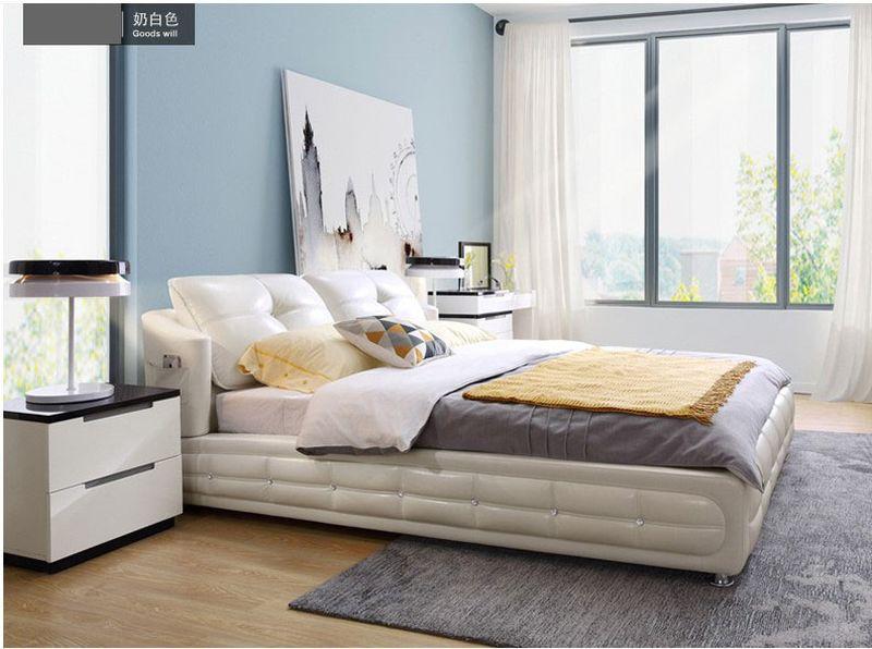 Giường ngủ bọc da nhập khẩu đẹp GN022 kiểu C