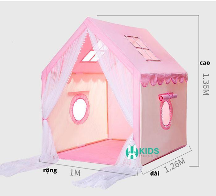 Lêu ngôi nhà cho bé màu hồng kích cỡ lớn