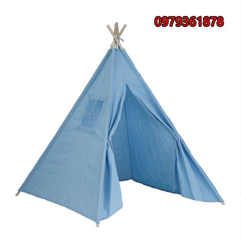 Lều vải thổ dân cho bé màu xanh