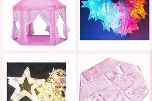 Lều công chúa màu hồng cho bé gái