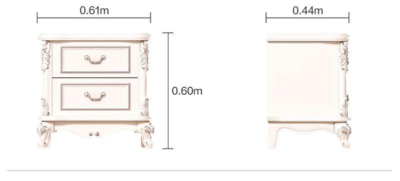 Kích cỡ tủ nhỏ đầu giường tân cổ điển châu âu GN024)