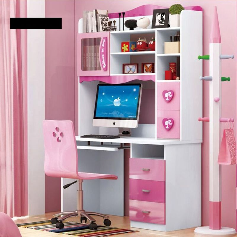 Bàn học cho bé gái đẹp xinh xắn màu hồng BH203 kiểu B