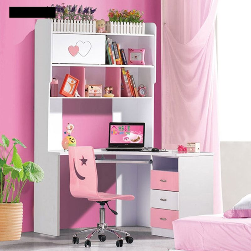 Bàn học cho bé gái đẹp xinh xắn màu hồng BH203 kiểu C
