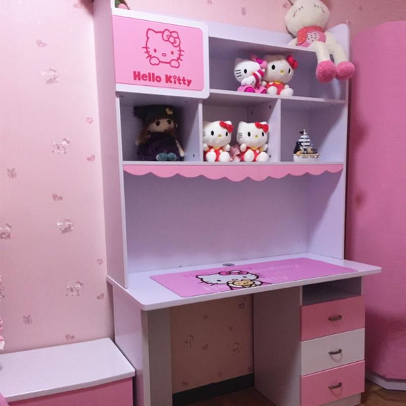 Bàn học cho bé gái màu hồng hello kitty BH204 2