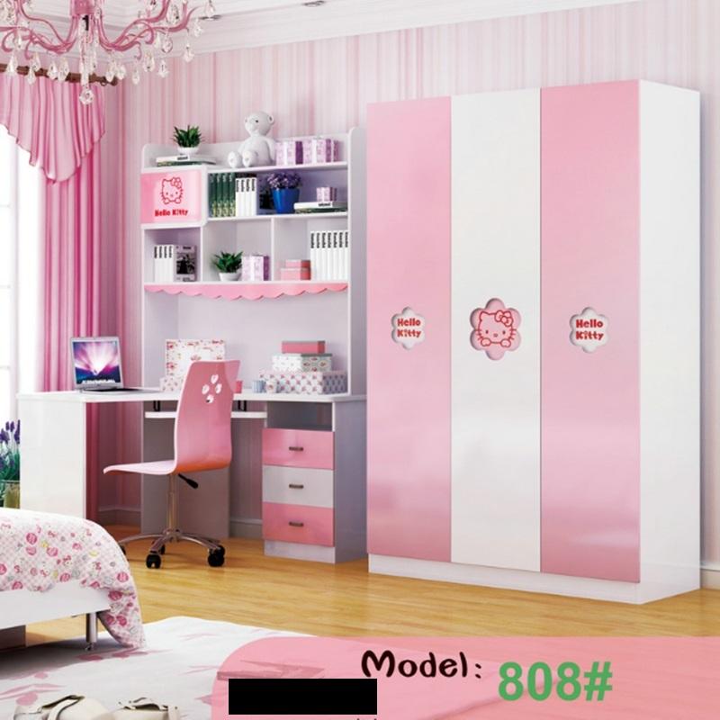 Bàn học cho bé gái màu hồng hello kitty BH204 4