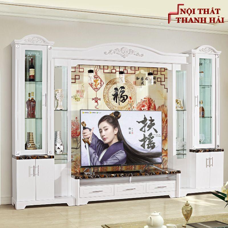 Bộ tủ rượu và kệ tivi phòng khách hiện đại sang trọng TR010