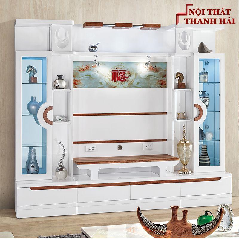 Bộ tủ rượu và kệ tivi phòng khách hiện đại sang trọng TR010 3