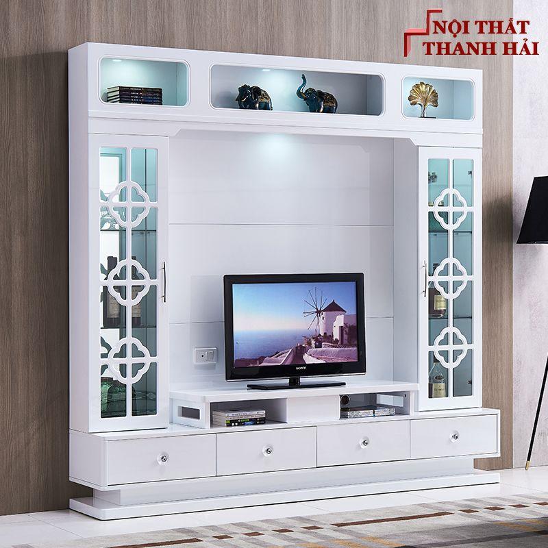 Bộ tủ rượu và kệ tivi phòng khách hiện đại sang trọng TR010 5