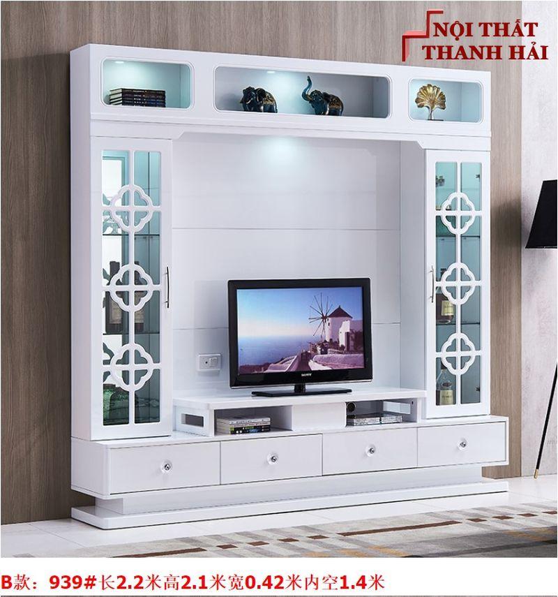 Bộ tủ rượu và kệ tivi phòng khách hiện đại sang trọng TR010 kiểu B