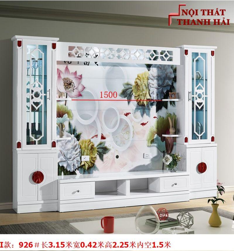 Bộ tủ rượu và kệ tivi phòng khách hiện đại sang trọng TR010 kiểu I