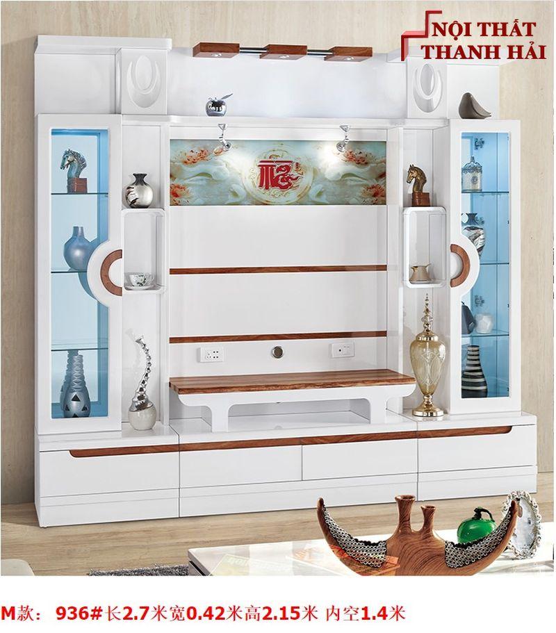 Bộ tủ rượu và kệ tivi phòng khách hiện đại sang trọng TR010 kiểu M