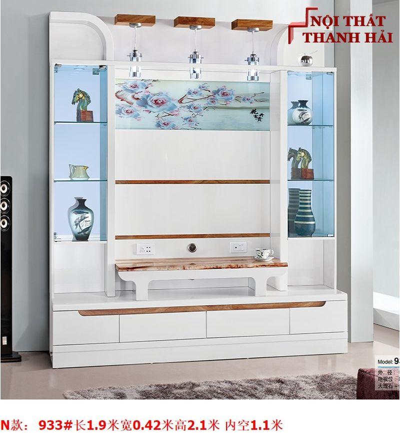 Bộ tủ rượu và kệ tivi phòng khách hiện đại sang trọng TR010 kiểu N
