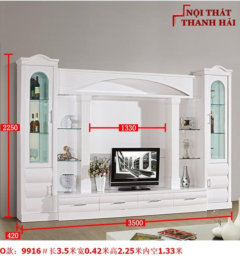 Bộ tủ rượu và kệ tivi phòng khách hiện đại sang trọng TR010 kiểu O