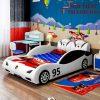 Giường siêu xe ô tô dành cho bé trai GTE145 màu trắng
